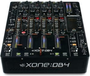 Mesa de mezcla de 4 canales Allen y Heath xone db4