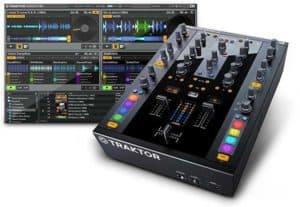 Imagen de mesa Traktor con software Traktor DJ