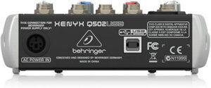 Especificaciones de mesa de mezclas Behringer Xenyx Q502USB precios, opiniones y más