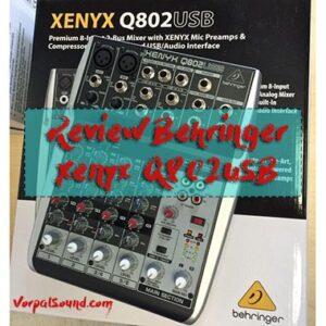 Revisión de mesa de mezclas Behringer Xenyx Q802USB precios, opiniones y más