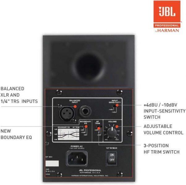 Conexiones de entrada JBL 305P